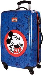 Disney Hello Mickey Equipaje Infantil, 68 cm, 62 Litros, Azul