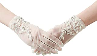 Ladies Lace Gloves Long Bridal Dress Gloves for Wedding Evening Party