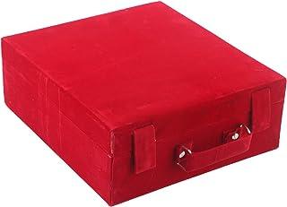 Kuber Industries Wooden Bangle Storage Box, Red, Maroon