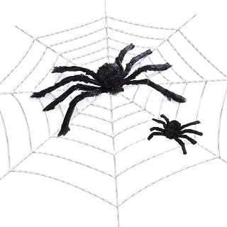ديكورات هالوين من LUOEM ديكورات عنكبوت عملاقة مخيفة مع لوازم حفلات عيد القديسين في الداخل والخارج ديكور المنزل