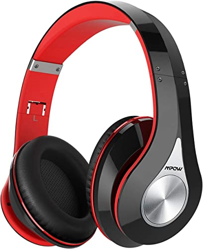 Mpow 059 Bluetooth Headphones Over Ear, Hi-Fi Stereo Wireless Headset, Foldable, Soft Memory-Protein Earmuffs, w/Built-in Mic and Wired Mode for PC/Cell Phones/TV product image