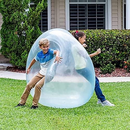 Sundeau Aufblasbarer Wasserball für Erwachsene und Kinder,Bubble Ball Spielzeug,reißfester weicher Gummiball,Lustiges Kindergeburtstagsgeschenk für die Strandgartenparty im Freien.