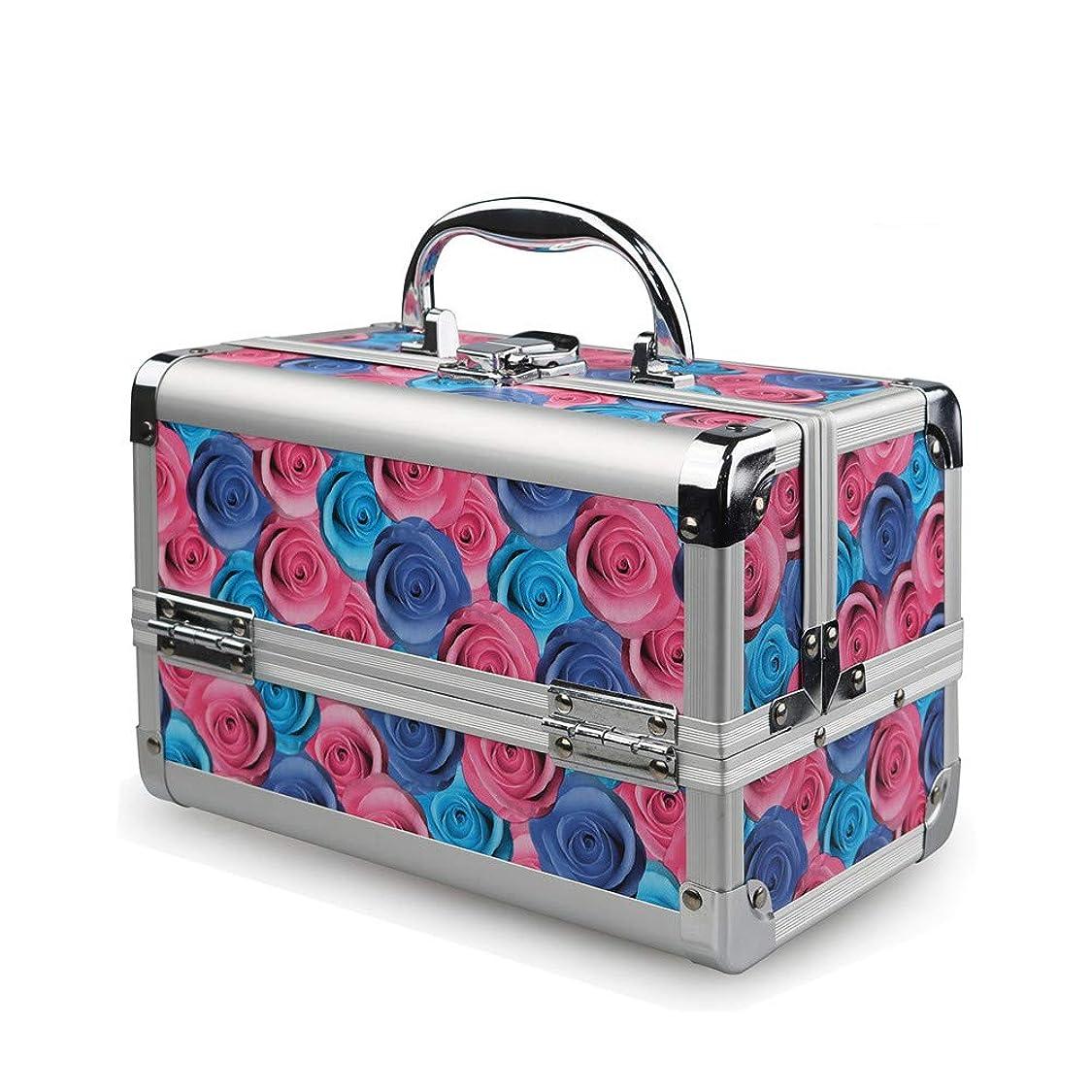 成功した価値不名誉な特大スペース収納ビューティーボックス 美の構造のためそしてジッパーおよび折る皿が付いている女の子の女性旅行そして毎日の貯蔵のための高容量の携帯用化粧品袋 化粧品化粧台