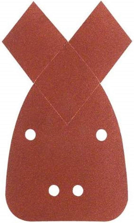 Bosch 2609256189 Bandes abrasives pour Ponceuses /à bande Qualit/é rouge 60 x 400 Grain 80 Lot de 3 feuilles