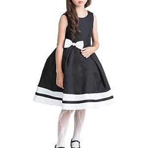 [キャサリンコテージ] 子供服 パールリボンのシンプルドレス 結婚式 発表会 CC0211 150cm ブラック TAK