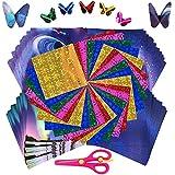Papel Origami,Papel para Papiroflexia,Manualidades de Origami,Papel de Origami de Color,Square Origami Manualidades,Cuadrado Color Doble Cara Origami Papel,para Manualidades DIY Proyectos de Artes