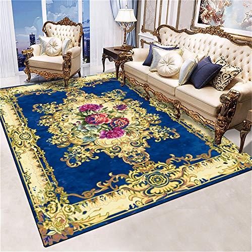 WQ-BBB Interiores La Alfombrers llprueba de Polvo Diseño de Estilo Europeo púrpura marrón Azul Oscuro alfombras pequeñas 50X80cm
