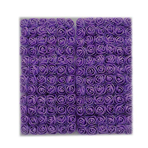 ddellk Flores Artificiales, pequeño Ramo de simulación de Espuma de Flor de Rosa Falsa para decoración de Fiestas, exhibición en el hogar (144 Piezas)