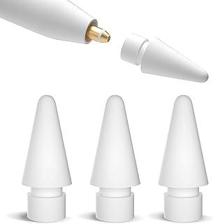 PZOZ 4個入り Apple Pencil 第1/第2世代用 チップ,アップルペンシル ペン先 替え芯 交換用 置換用 高感度 静かな 滑り止め iPad Pro Air mini アクセサリー に適用