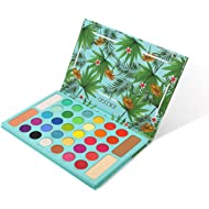 Tropical Eyeshadow Palette Docolor 34 Color Eye Shadow Matte Glitter Highly Pigmented...