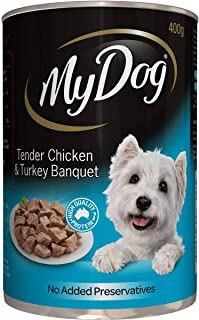 MY DOG 12009 Chicken and Turkey Dog Wet Food 400g