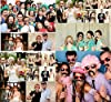 Foonii 76 pcs photo booth props Accessori fai da te colorati occhiali baffi labbra farfallino cappelli su bastoni per matrimonio partito Natale compleanno #1
