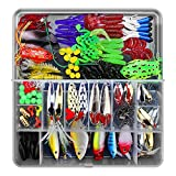 Festnight Fishing Lures Kit, Fishing Baits Crankbait Swimbaits Mixed Set Including Hard Spinner Soft Bait with Tackle Box for Trout Bass Perch Pike