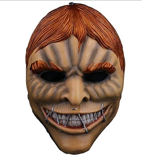 80% de descuento NDHSH Miedo máscara de Payaso Payaso Payaso Cabeza Cosplay Diverdeido Terror apoyos del Partido Disfraces Máscaras Cara Completa Mascarada Carnaval Navidad máscara,A-26  17CM  oferta especial