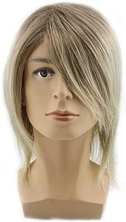 Men's Fashion Handsome Medium Style Straight Wig,golden Blonde Color Wig