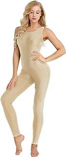 Womens Solid Lycra Spandex Nylon Tank Dance Unitard Bodysuit Jumpsuits
