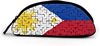 Pencil Bag Philippine Flag Puzzle Pencil Bag Pen Case Storage High Bag Pouch Holder School Cosmetic Bag 3 x 8 Inch