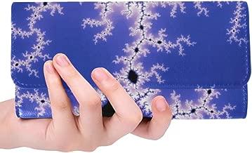 Unique Custom Fractal Abstract Abstraction Design Rendering Women Trifold Wallet Long Purse Credit Card Holder Case Handbag