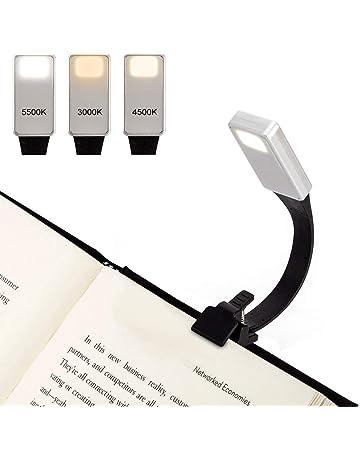 Elviray Mini Lampada da Lettura Flessibile Portatile Luminosa per Libri Lampada da Lettura Bianca per Libri Leggera da Lettura Lampada Portatile compatta per Studenti