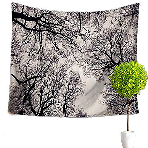 LvBo Decorative Tapestry Black & White Trees Branches Wall Hanging for Living Room Bedroom Dorm Decor
