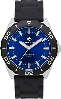Rip Curl Men's Dvr Classic Rubber Watch Stainless Steel Pu Blue