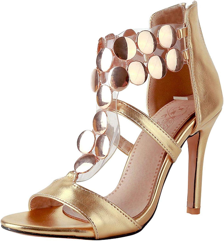 Vitalo Womens T Strap High Heel Wedding Sandals Open Toe Stiletto Pumps