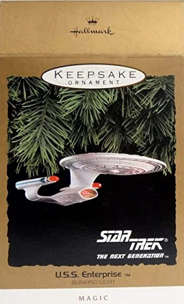 Hallmark Star Trek The Next Generation U S S Enterprise Blinking Light Keepsake Ornament