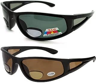 2 Pair of Polarized Bifocal Sunglasses - Outdoor Reading Sunglasses
