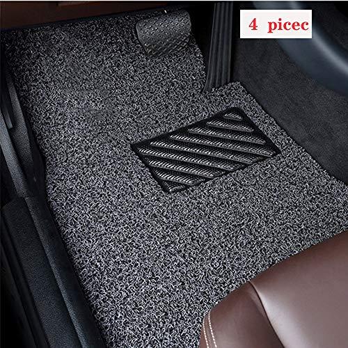 K KARL 4 Piece Car Mat Floor Mats for Small covid 19 (4 Piece Carpet Mat coronavirus)