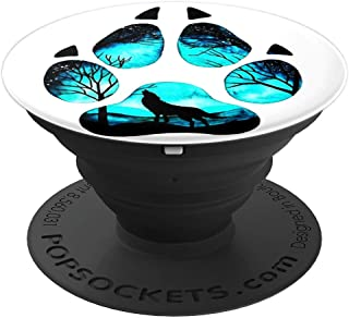 Wolf Paw Print Pop Socket Phone Ring Stand - PopSockets Grip and Stand for Phones and Tablets