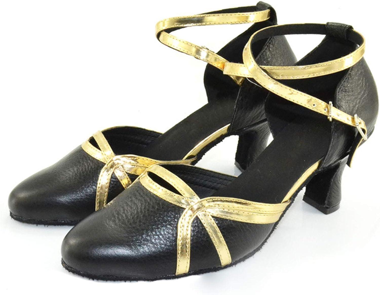Latin Dance shoes for Women,Adult Ladies Girls Closed Toe Medium Heel Performance Training Standard Dance shoes