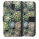 Étui Compatible avec Samsung Galaxy S5 Neo Étui Folio Étui magnétique Design Abstrait Cactus