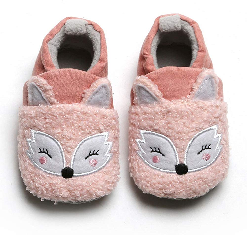 Baby Boys Girls Winter Animal Cotton Shoes Infant Toddler Non-Skid Soft Sole First Walker Winter Warm Crib Shoes
