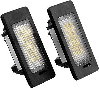 AOLUNO Update 2X LED License Plate White Xenon Light Lamp Bulb Car Kit Replacement for BMW E82 E88 E90 E92 E39 E60 E61 M