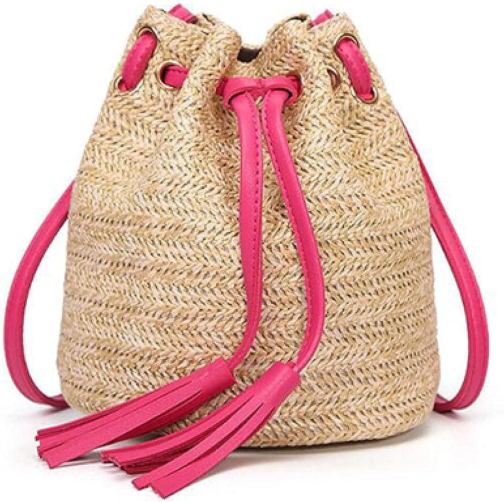 Summer Max 54% OFF Style Beach Ranking TOP2 Bag for Bucket Tasse Women Shoulder Straw