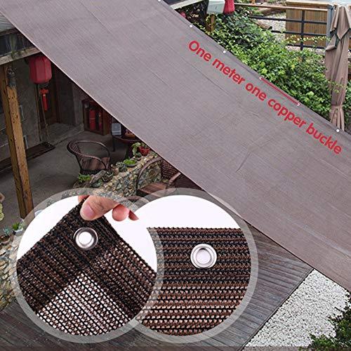 WXQIANG 80% Pantalla de Tela Sombrilla de Tela con Ojales for Pergola Piscina Cubierta, al Aire Libre Brown Cortinas Velas Prueba de Viento for el jardín Balcón Protección Solar, Aislamiento térmico.