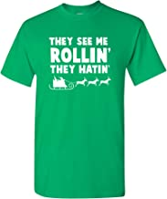 They See Me Rollin' Sleigh Ride - Christmas Funny Parody Rap Song T Shirt