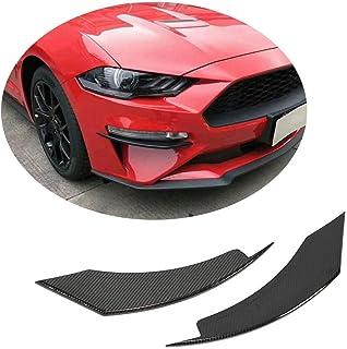 XTT Ventilación del Parachoques Delantero para Ford Mustang GT Coupe Convertible 2018UP Fibra de Carbono CF Air Fender Scoop Spoiler Canard Winglets Splitter Cover Trim