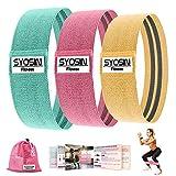 SYOSIN エクササイズバンド ループバンド トレーニング チューブ 筋トレ トレーニングチューブ 強度別3本セット トレーニングチューブトレーニング用
