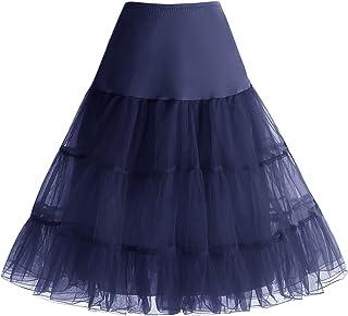a552650150441 Homrain Vintage Rockability Femme Mini Jupe Mini Jupon Ballet Tutu en Tulle  Rétro Multi-Couleurs