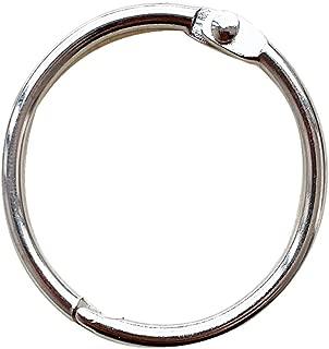 1.5Inch (20 Pack) Loose Leaf Binder Rings, Nickel Plated Steel Binder Rings, Keychain Key Rings, Metal Book Rings, Silver, for School, Home, or Office