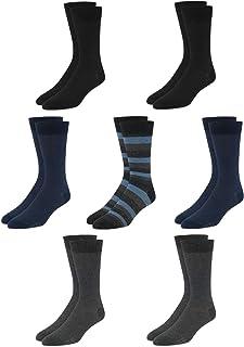 Men's Dress Socks - Lightweight Mid-Calf Crew Dress Socks