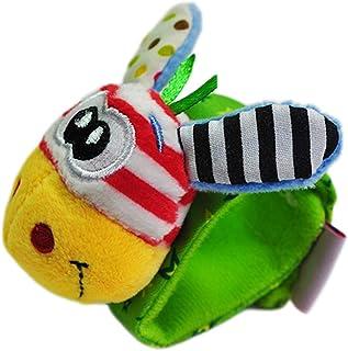 Anniston Kids Toys, 1Pc Plush Frog Animal Wrist Rattle Foot Finder Handbell Development Baby Toy Baby Toys Perfect Fun Tim...