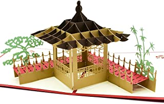 Magic Ants Classical Building Model 3D Pop Up Cards for Birthday Graduation Congratulations with Envelope and Envelope Seal Sticker - Handmade Greeting Card Laser Cut Creative Gifts Card