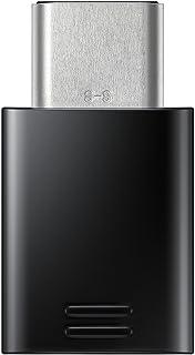 Samsung USB-C at Micro USB Adapter, EE-GN930, Black - Suitable for Galaxy A3 A320F, Galaxy A5 A520F, Galaxy S8 G950F, Gala...