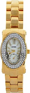 Sunex watch for women analog gold stainless steel dial white dial S5045GW