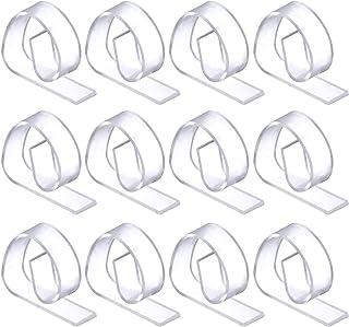 HSCC666 Lot de 50 pinces à nappe en plastique transparent - Pour la maison, les fêtes, les pique-niques