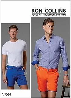 Vogue Patterns V9324NVV 男式短裤,30-32-34-36,绿色