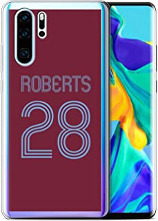 Personalized Custom Soccer Club Jersey Shirt Kit Case for Samsung Galaxy A8 Plus 2018 / Claret Blue Design/Initial/Name/Text DIY Cover