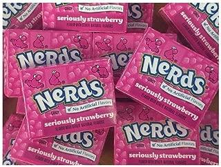 Wonka Nerds Mini Boxes Strawberry ALL PINK 3 Pound Bulk Candy 93 pieces